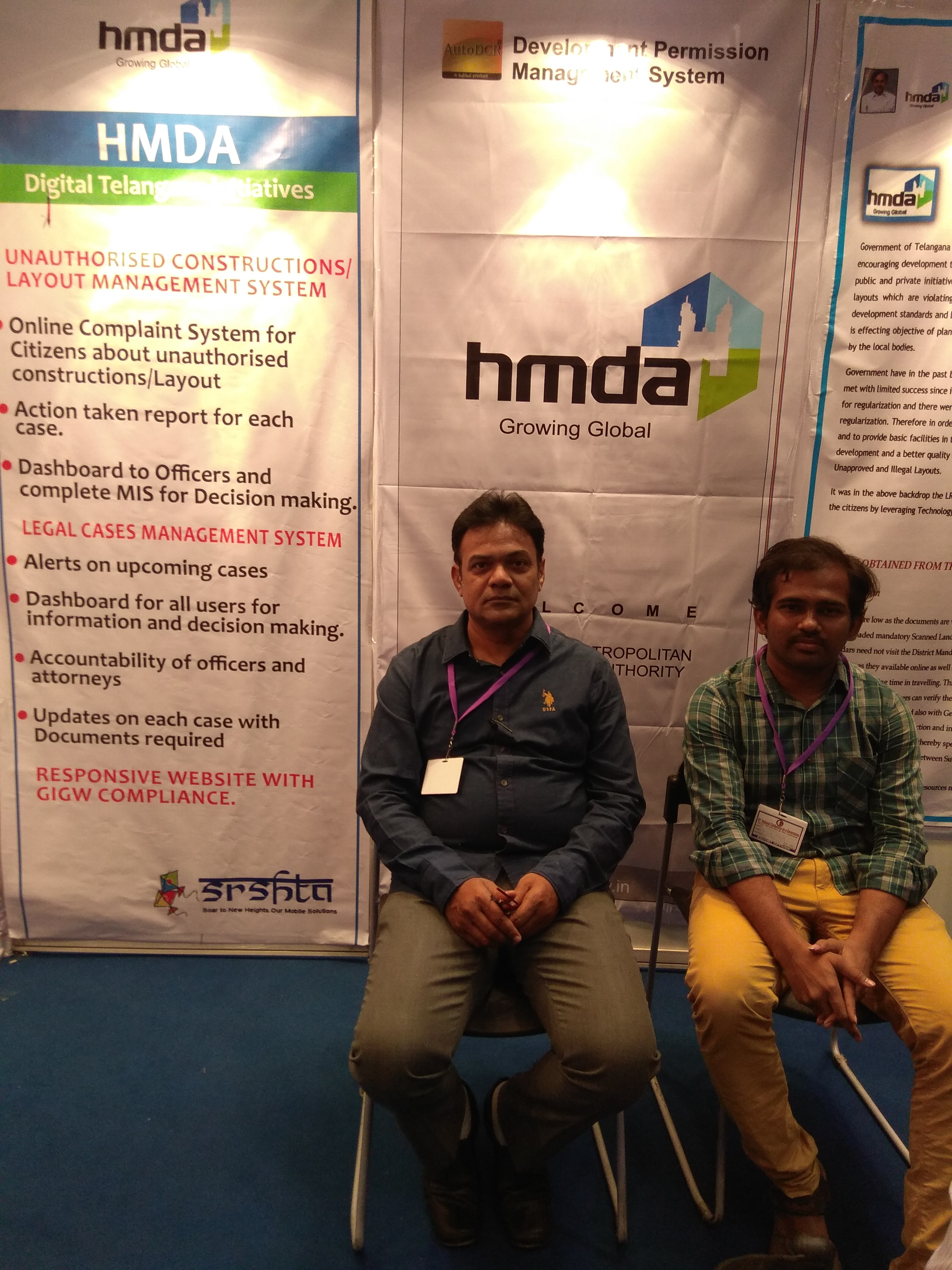 21st National conference on e-Governance at HITEX,Hyderabad.